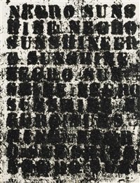 study for negro sunshine #47 by glenn ligon