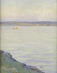 båtfärd, siljan by stan gustaf herman ankarcrona