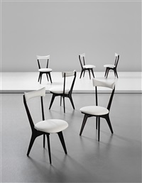 rare set of six chairs by ico parisi