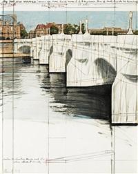 the pont neuf wrapped (project for paris), quai du louvre, q. de la messagerie, ile de la cité, q. de conti, q. des gds by christo and jeanne-claude