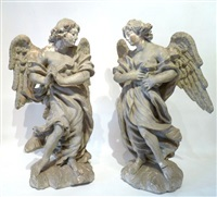 anges (pair) by jean del cour