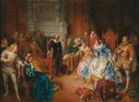 shakespeare am hof elisabeths von england seinen macbeth vorlesend by edouard ender