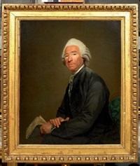 portrait de gentilhomme tenant un livre by etienne aubry