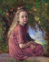 ritratto di bambina nel parco by otto jung