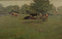 cows at pasture by charles henry hayden