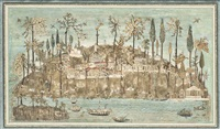 landscape of topkapi from the bosphorus by anonymous-ottoman (18)