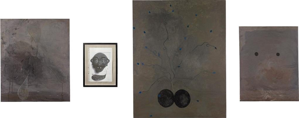 blue flowers (lysol) (4 works) by thomas zipp