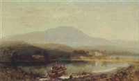 looking towards the wetherlamb mountain and hawkshead - eastwaite water n.l. by charles pettitt