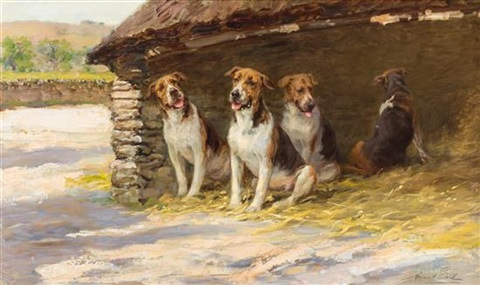 dogs in a kennel by maud earl