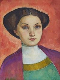 porträtt av fröken svea cervin by nils von dardel