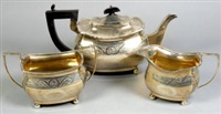 tea service (set of 3) by s. blanckensee & son