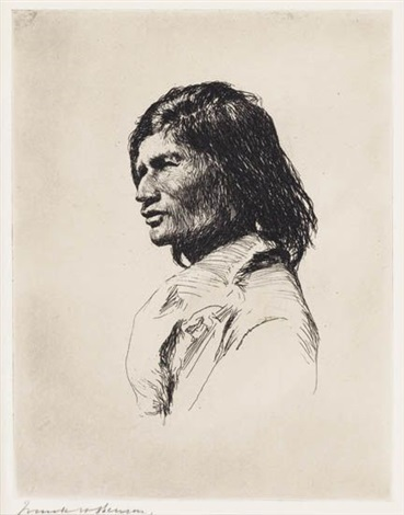 nascaupée indian by frank weston benson