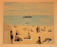 badende am strand by jacques villon