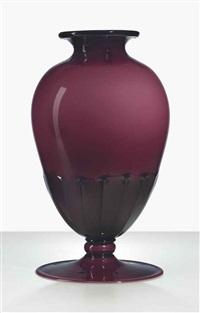 unique incamiciato vase by ferro murano