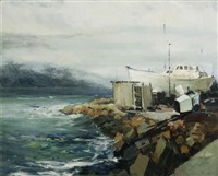 bote in houtbaai hawe by ruth squibb