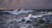 mareggiata al tramonto a santa margherita ligure by andrea figari