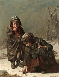 gathering sticks by alexandre antigna