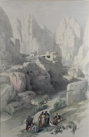 the ravine petra by david roberts
