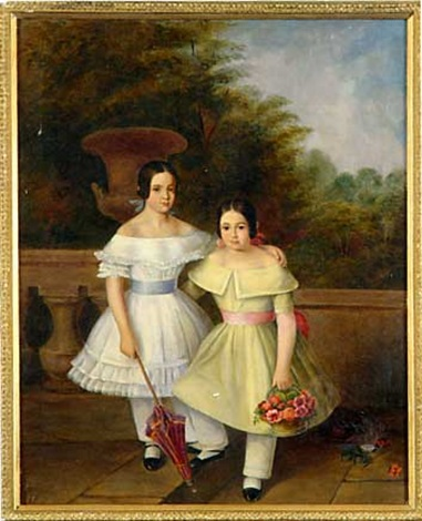 portrait of two young girls by samuel fb morse