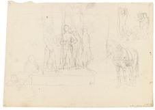 kompositionen dbl sided studies by hans von marees