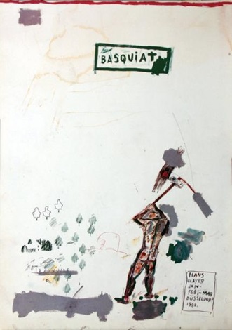 basquiat hans mayer by jean michel basquiat