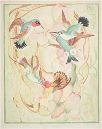 hummingbirds and orchids by wuanita smith
