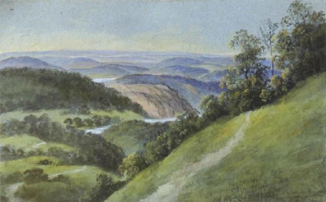 blick vom hermannskogel auf den wienerwald by therese holbein