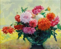 still life with dahlias by elizabeth heil alke