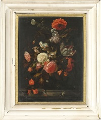 natura morta con fiori by herman verelst