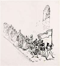 stumme liebe (for märchen und sagen, vol. 2, by johann karl august musäus) by josef hegenbarth