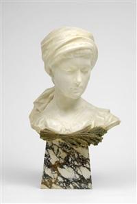 bauernmädchen mit kopftuch by aristide petrilli