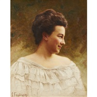 portrait of a lady by joseph-charles franchere