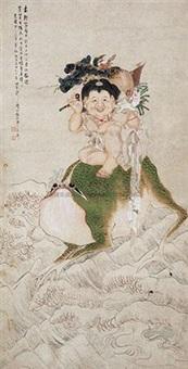 刘海戏蟾 by xu zhaojing