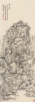 天池石壁 (landscape) by bian wenyu