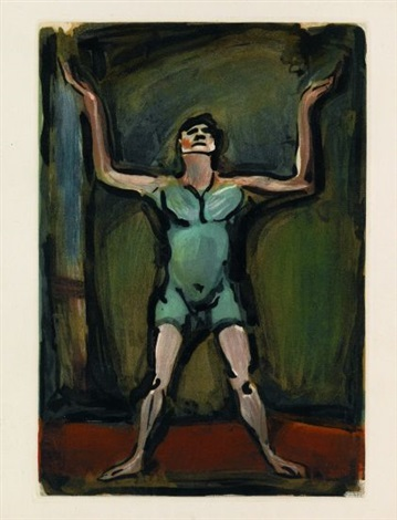 le jongleur from cirque by georges rouault