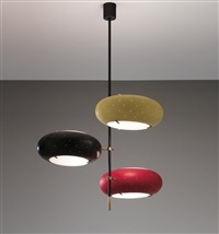 three-armed ceiling light by angelo lelli
