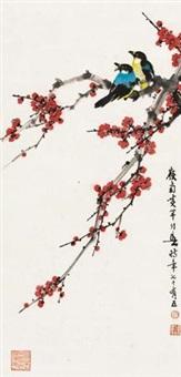 红梅鸣禽 by huang huanwu