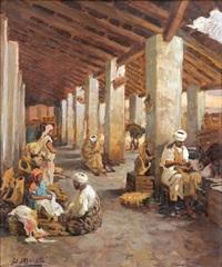 marchands dans un souc au maroc by dario mecatti