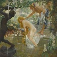 badende in einem harem by julius jacob the younger