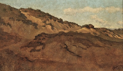 hillside between perugia gubbio by elihu vedder