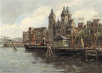 a view of the st. nicolaaskerk, amsterdam by hendrik cornelis kranenburg