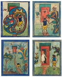 lantlig idyll (4 works) by nils von dardel