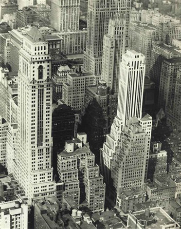 view from the empire state building by berenice abbott