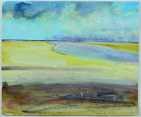 porthkidney sands, december morning by kurt jackson rwa