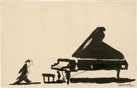 pianiste (recto-verso) by jean-jacques sempé