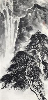 松峰翠色云壑飞瀑 by liang shixiong