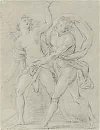 the rape of orithyia (+ saint mark; 2 works) by arcangelo foschini