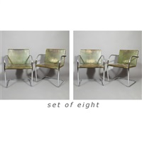 set of eight brno chairs by ludwig mies van der rohe