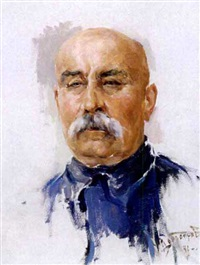 portrait of a famous moustached ukrainian by michail nikolaievitch dobronravov