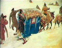 the boyars' sleigh by sergei vasilievich ivanov